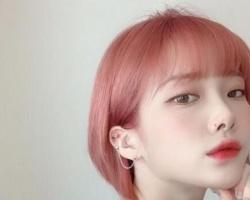 2019代表色放头发很可以,显白又梦幻的梦幻珊瑚发色太美了!