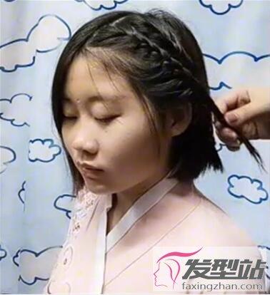 教程女孩短发长发图解a教程可爱不输古装发型乔徐海发型图片图片