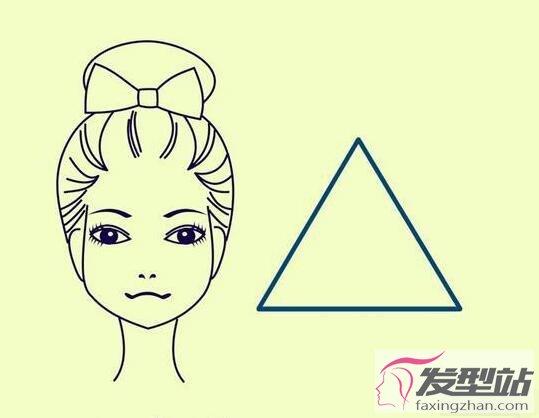 三角形脸适合什么发型