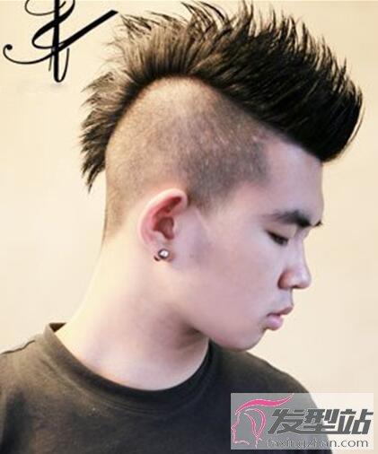 莫西干男士发型 酷炫型男都剪这款
