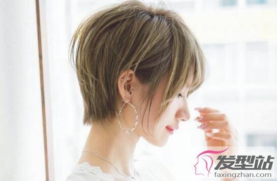 女生脸圆什么发型显脖子长 短发女生也可以性感和可爱