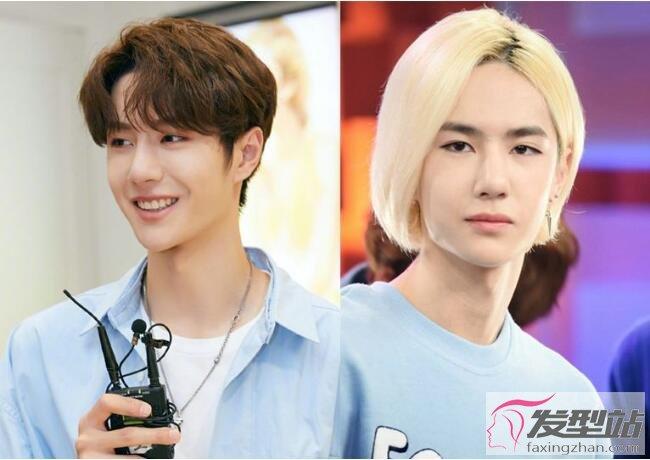 男今年流行什么�yg�_王一博出道金发偏分发型被嫌太丑,对比明星中、韩活动造型