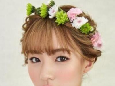 有刘海的新娘发型 百变刘海瘦脸显气质