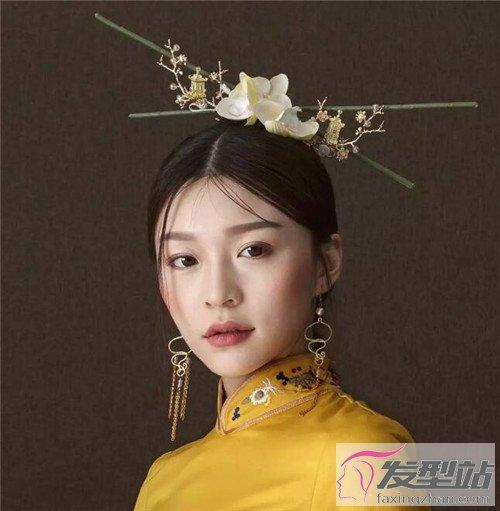古风中式新娘发型 典雅秀禾新娘妆发图片-新娘发型-站图片