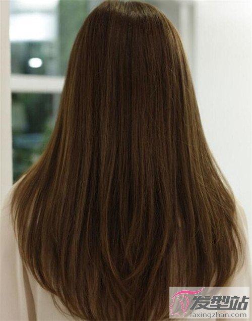 直发发型中长发