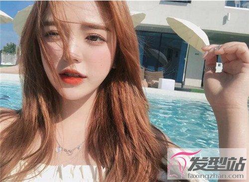 棕橙色头发