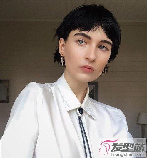 甜酷女生超短发设计 大背头vs短刘海发型