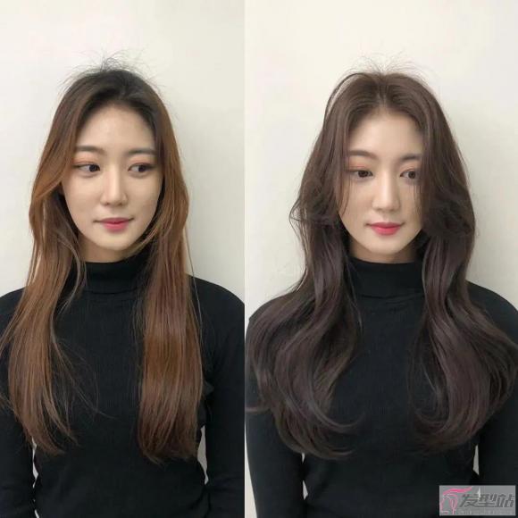 换发型前后对比照