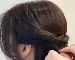 披肩卷发半扎公主头教程,气质优雅的公主半头辫发竟然这么简单