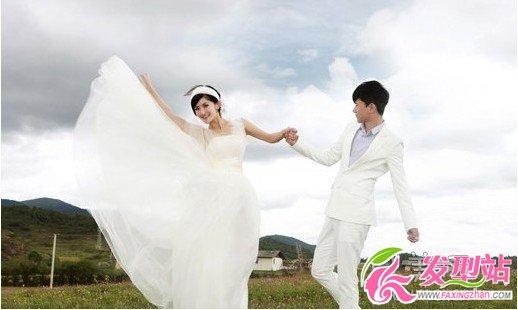 张杰时尚新娘照片_谢娜张杰婚纱照发型图片-新娘发型-发型站_最新流行发型设计