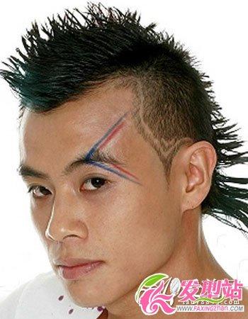 男生最酷刀疤头发型图片 另类发型更显年轻个性