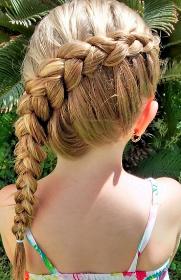 儿童编发盘发图片大全 12款小女孩春节发型扎法