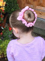 小宝贝女儿编发发型 帮女儿扎发头发图片大全