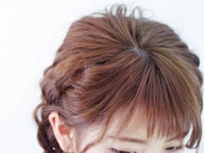 韩式气质扎发图解 编发马尾辫教程步骤