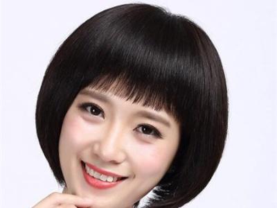 可爱蘑菇头短发 女生减龄短发