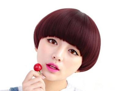 甜美蘑菇头短发 2017女生减龄短发