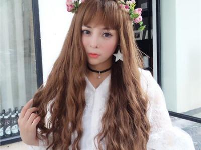森系韩式玉米烫发型 最新甜美玉米烫染发