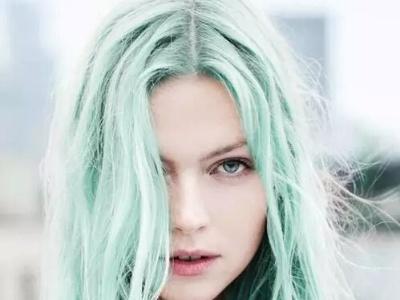 夏日薄荷绿发色 看起来凉快的发色