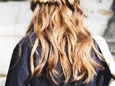 最新长发扎发图片 长头发编扎发型