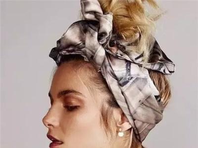 百变新潮丝巾扎发 2分钟会7款发型