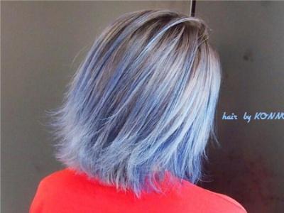 忧郁蓝水彩蓝天空蓝 蓝色头发染发效果