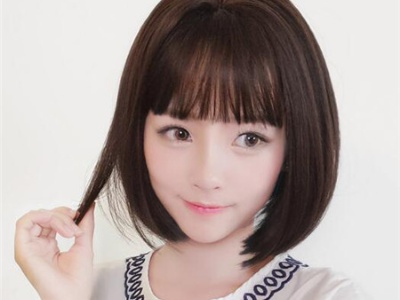 文艺学生波波头 甜美学生减龄短发