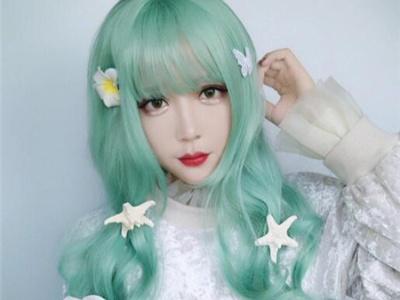 薄荷绿染发效果图 清新感绿头发更时髦