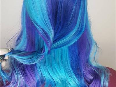 蓝色系发色有哪些 女生蓝色系染发效果图片