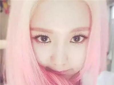 韩式甜美染发发色 玫瑰粉静谧蓝最抢眼