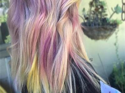 紫色头发怎么染最好看 紫色渐变挑染美爆眼球