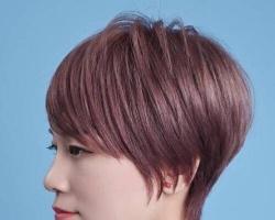 女生贝壳头短发发型 简简单单露耳短发超清爽