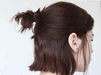 宝妈发型怎么扎简单好看 半扎丸子头强势回归