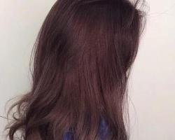 粉棕色染发效果图 素颜也显白去黄一染就仙气上身