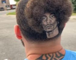 男生嘻哈风3D雕刻发型 疯狂的粉丝将偶像刻上头