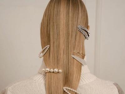 头上的小心机 披头发带镶钻发饰发夹超有气场