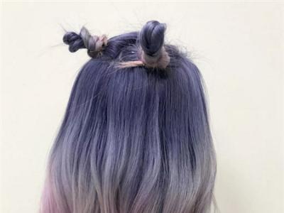 这季度流行的发色 灰色紫色系甜美种草