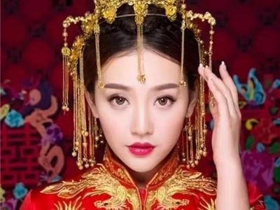 中国风古装新娘发型 演绎唯美古装感