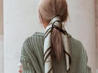 女生怎么用丝巾扎头发 丝巾+扎发时尚个性美到哭