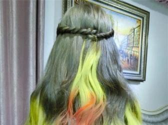 最新彩色接发编发 接染发也很仙系