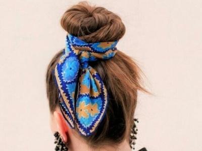 丝巾怎么扎头发 扎发+丝巾打造高级感更时髦