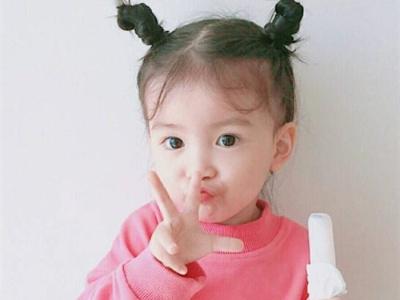 甜美可爱儿童扎发 软萌小公主发型图片
