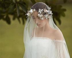 浪漫新娘头纱发型 打造高贵优雅新娘