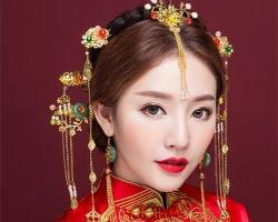 中式秀禾新娘发型 经典古装新娘图片