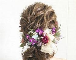 日系鲜花新娘发型 打造浪漫慵懒新娘