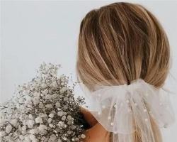 清新感新娘发饰 打造仙气新娘发型
