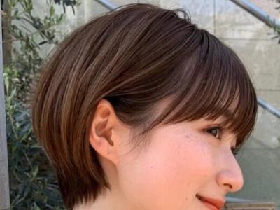 女生日系小短发!想要修饰高额头、宽颧骨、显小脸,你真的该试试它!