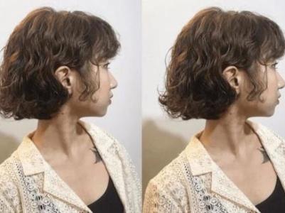 适合短发女生的烫发发型 短发蛋卷头减龄效果满分