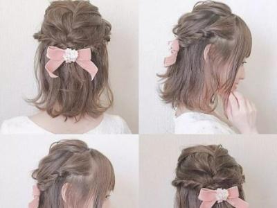 中短发扎发大集锦 精致少女发型每天不重样