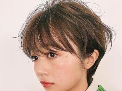日式小清新露耳短发发型 这么剪美、酷、甜一次get