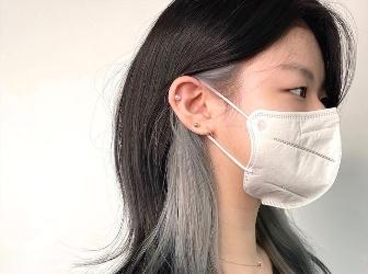 耳圈染什么颜色好看 挑染耳后头发图片大全女